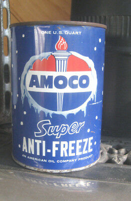 Vintage AMOCO SUPER ANTI-FREEZE QUART CAN AMERICAN OIL COMPANY