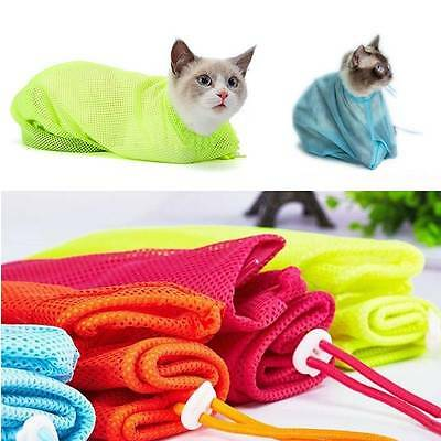 Cat Grooming Nail Clipping Bathing Bath Bag NO BITE SCRATCH Restraint System-New
