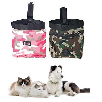 Camouflage Pet Dog Puppy Snack Obedience Agility Bait Food Training Treat Pouch.