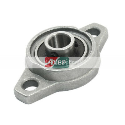 FL000 Insert 10mm Dia Metal Two Bore Pillow Flange Block Bearing