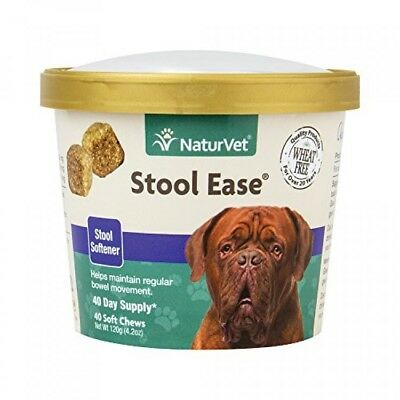 NaturVet Stool Ease Stool Softener for Dogs, 40 ct Soft Chews, Made in USA