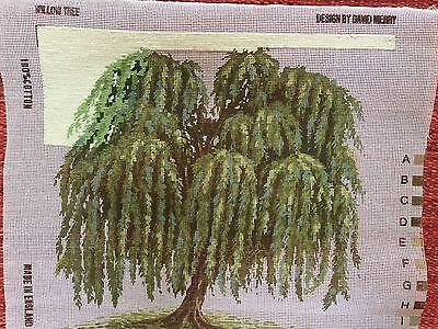 Ehrman Needlepoint 1999 Canvas WILLOW TREE by David Merry CANVAS ONLY NO WOOLS