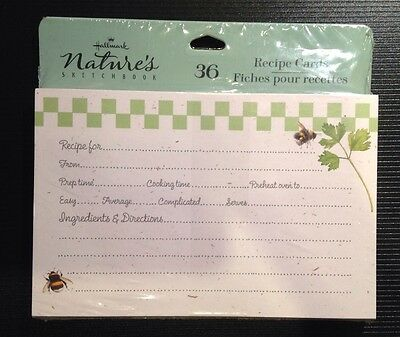 Nature's Sketchbook Marjolein Bastin Recipe Cards Factory Sealed Package Of 36