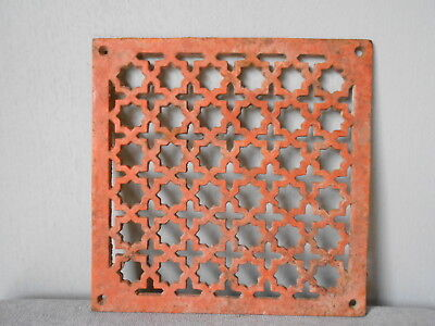 FRENCH Vintage Cast Iron HEATING GRATE VENT PLAQUE