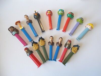 PEZ collectable dispensers bulk lot of 16
