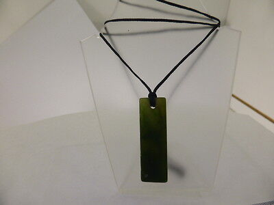 Natural Hand Cut Pendant Nephrite Jade New Zealand Greenstone / Pounamu