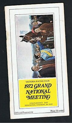 1972 Vrc Grand National Steeplechase Racebook.. First Race For Gosh. 2Yo.