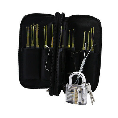 32/24/12 Pcs Practice Lock Picks Set Transparent Unlocking Locksmith Learn Tool