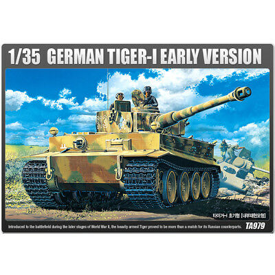 ACADEMY #13239 1/35 Plastic Model Kit German TIGER-I Early Production