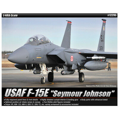 ACADEMY #12295 1/48 Plastic Model Kit USAF F-15E Seymour Johnson