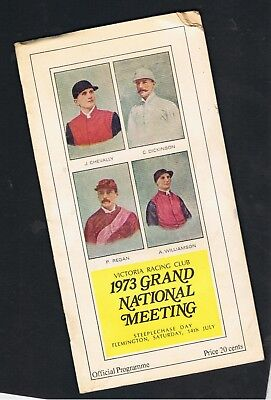 1973 Victoria Racing Club Grand National Steeplechase Meeting Racebook
