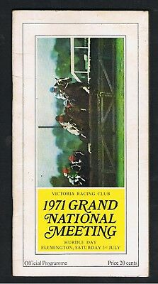1971 Victoria Racing Club Grand National Hurdle Day Racebook