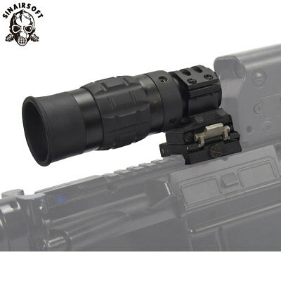 Tactical Zooming 1.5-5X Magnified Optics Magnifier Scope with Flip to Side Mount