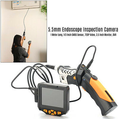 "φ 5.5mm 1m 3.5"" LCD Monitor Inspection Camera  Endoscope Borescope Scope 6 LEDs"