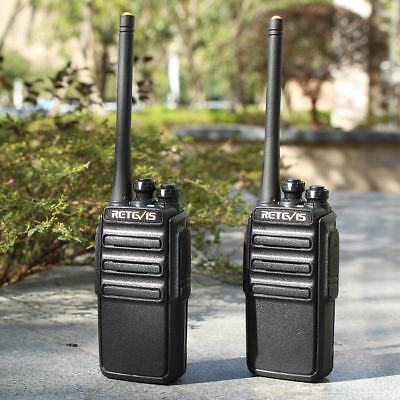 2X Retevis RT24 Walkie Talkie PMR446 Licence-Free Two Way Radio 16 Channels Scan