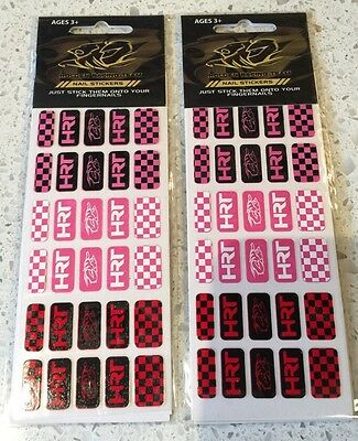 Hrt Holden Racing Team Nail Art Stickers 2 Packs Of 30 = 60 Stickers!! Free Post