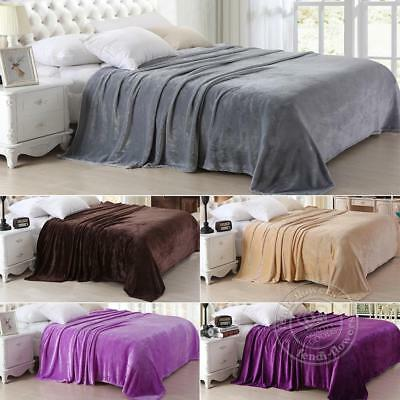 150x200cm Large Luxury Fleece Blanket Faux Fur Sofa Bed Mink Soft Warm Queen