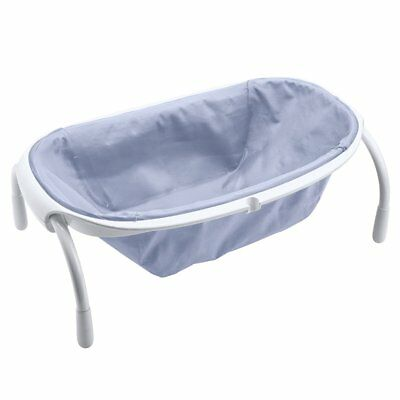 Beaba Folding Baby Bath Tub Newborn Toddler 24 L Textile Pastel Blue 920294