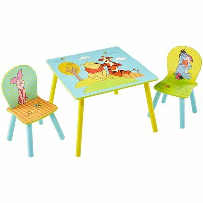 Disney Three Piece Children Table and Chair Set Winnie the Pooh Wood WORL104004