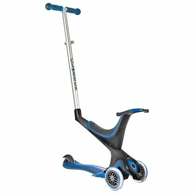 Globber Electric Riding Child 5-in-1 Scooter MyFree Seat Navy Blue STEP880378
