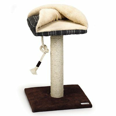 Beeztees Scratching Post Cat Play Toy Activity Centre Sisal Tront Brown 408909