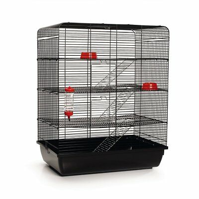 Beeztees Rat Mouse Small Pet Cage Bed House 4 Storey Levels Remy Black 266815