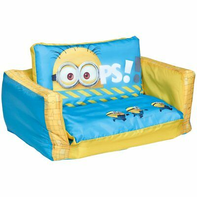 Minions 2-in-1 Inflatable Flip-out Sofa Sleepover Bed Kids Lounger WORL220003