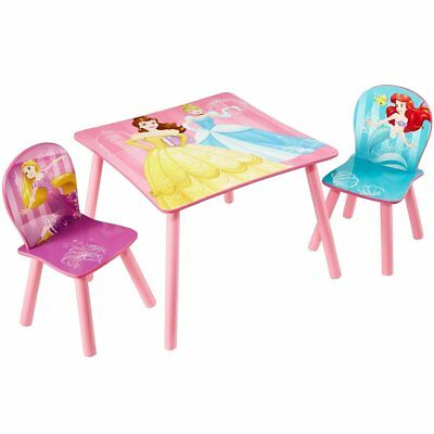 Disney 3 pcs Kids Toddlers Wooden Table and Chair Set Princess Pink WORL660020