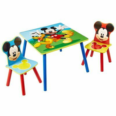 Disney Three Piece Children Table and Chair Set Mickey Mouse Wood WORL119014