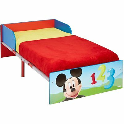 Disney Kids Children Toddler Bed Mickey Mouse Single Bed Frame Red WORL119013
