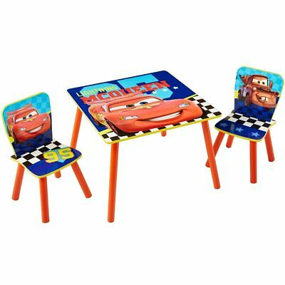 Disney Three Piece  Kids Toddlers Children Table and Chairs Set Cars WORL320021