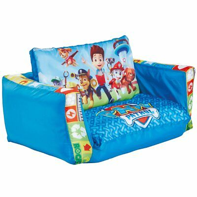 Paw Patrol 2-in-1 Kids Children Inflatable Flip-out Sofa Lounge Blue WORL268001