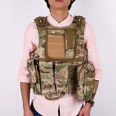 Sports Waistcoat Tactical Airsoft Molle Plate Carrier Vest Comfortable
