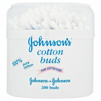 Johnson's 100% Pure Cotton Naturally Absorbent And Gentle Cotton Buds 200s