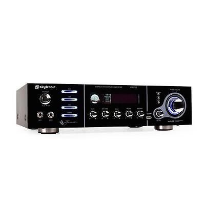 HIFI 5 CHANNEL HOME CINEMA AMPLIFIER KARAOKE PA AMP USB MP3 2x MICROPHONE INPUT