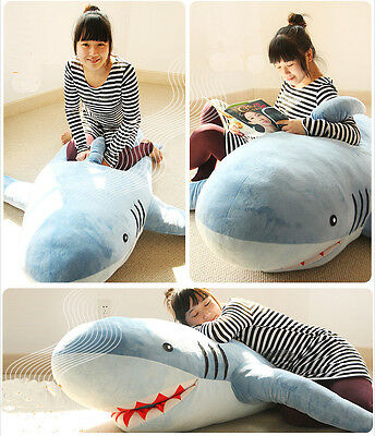 1MLarge GIANT HUGE SHARK STUFFED ANIMAL PLUSH SOFT TOY PILLOW SOFA BEAN BAG GIFT