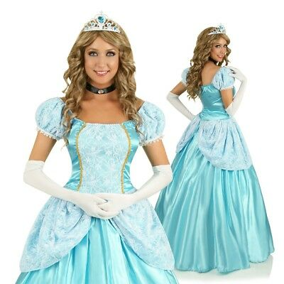 Womens Cinderella Gown Princess Fancy Dress Costume Cinderella Fairy Tale