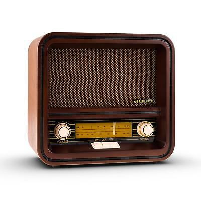 Classic Vintage Style Retro Radio Am Fm Usb Mp3 Wooden Compact Nostalgia System