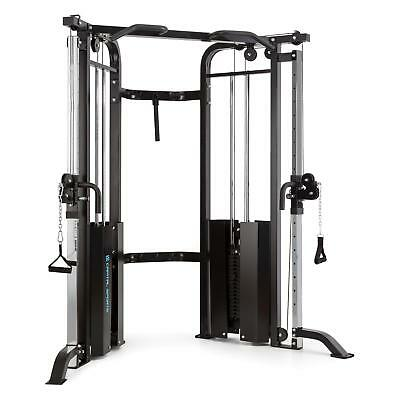 Capital Sports Xtrakter Cable Pull Station Black Steel Power Lift 2 X 90Kg