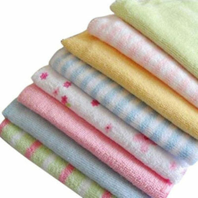 8 PCS Baby Infant Newborn Bath Towel Washcloth Newborn children handkerchief