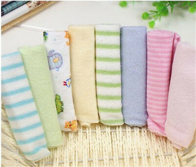 8Pcs/Pack Cotton Newborn Baby Towels Toalha Nursing For Boys Washcloth