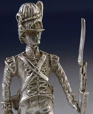 Cast Solid Sterling Silver Napoleonic War Soldier Figure London 1978 Military