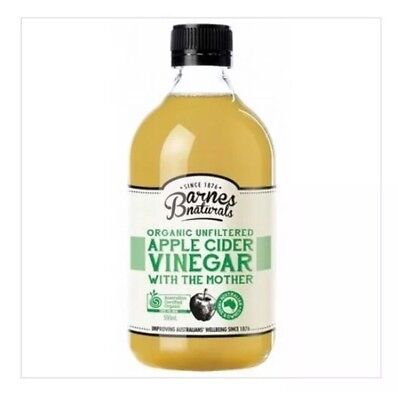 ✅(Carton Of 6) BARNES NATURALS Apple Cider Vinegar With 'The Mother' 500ml