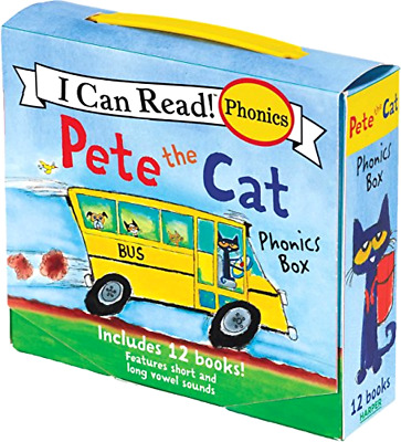 12 Books Pack Pete the Cat Childrens I Can Read Phonics Readers Learn to Read