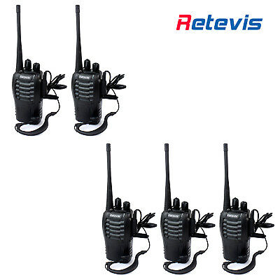 4PACK Retevis H-777 Walkie Talkies 5W 16CH UHF Radios USB Rechargeable CTCSS/DCS