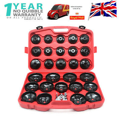 31pcs Cap Type Oil Filter Wrench Set Socket Tools Automotive Removal Kit Tool