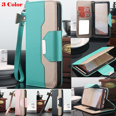 Leather Wallet Flip Case Cover Stand Pouch Folio For Samsung Galaxy Note 8 S8 S7