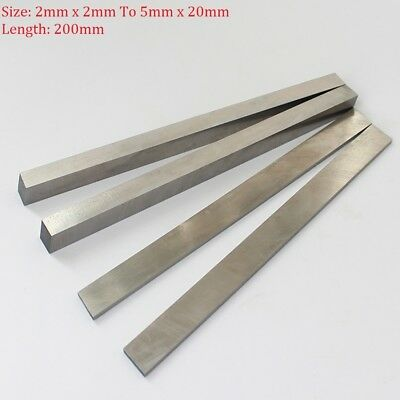 HSS Steel Flat Square Bar Stirp 2mm x 2mm To 5mm x 20mm Mould Making 200mm Long