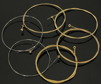 Set Of 6 Acoustic Steel Bronze Guitar Strings Replacement Pack Rich Tone