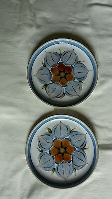 Denby/Langley Chatsworth tea plates  6.75  inches (2 plates)